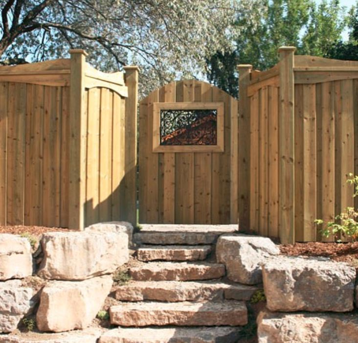 Gate Insert By Security Fence