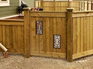 Dog Enclosure - Fence/Gate with Nuvo Iron ACW57 Fence & Gate Inserts