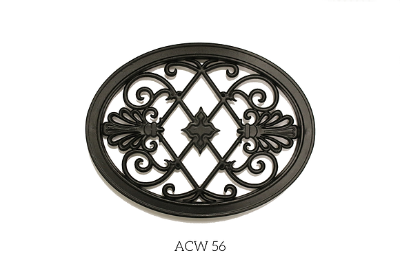Insertions En Aluminium Coulé Noir- ACW56