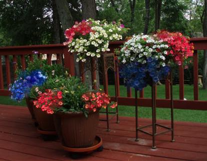 Patriotic Flower Pot - American Flag