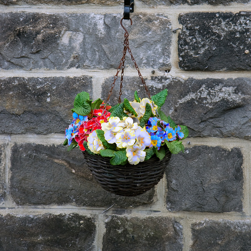 Patriotic Hanging Flower Pot