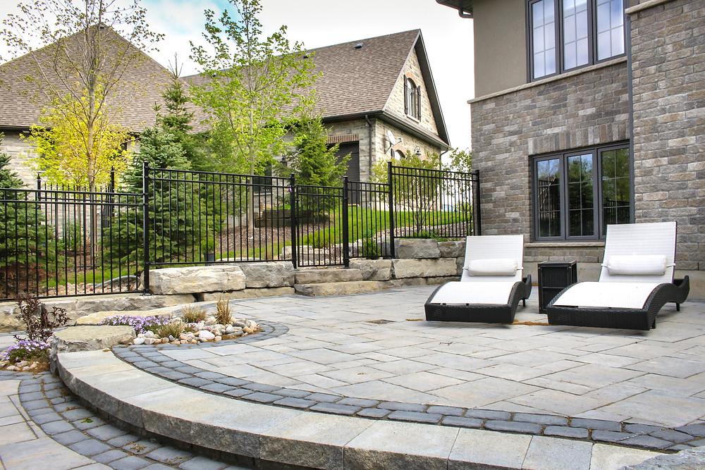 Nuvo Iron Iron Fence Profile - Backyard