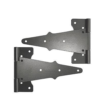 "Wooden Gate Hardware - 8"" Tee Hinge (TH8BLK)"