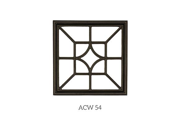 Insertions En Aluminium Coulé Noir - ACW54