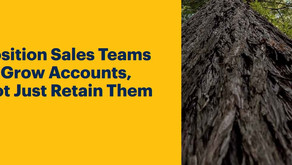Position Sales Teams to Grow Accounts, Not Just Retain Them-
