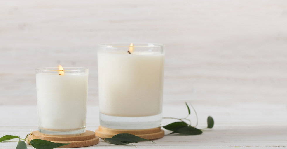 Candle Crafts handmade glass container candles and votive candles
