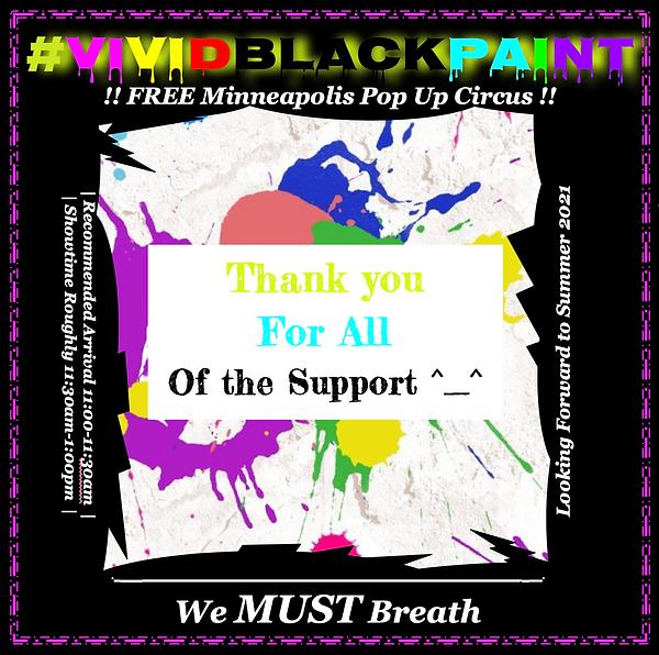 vivid black paint we 2020 must breath minnesota, pop up circus