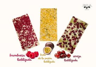 Tabletas de chocolate con frutas... ¡liofilizadas!