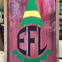 "Elf Monogram 14""x26"" Framed"