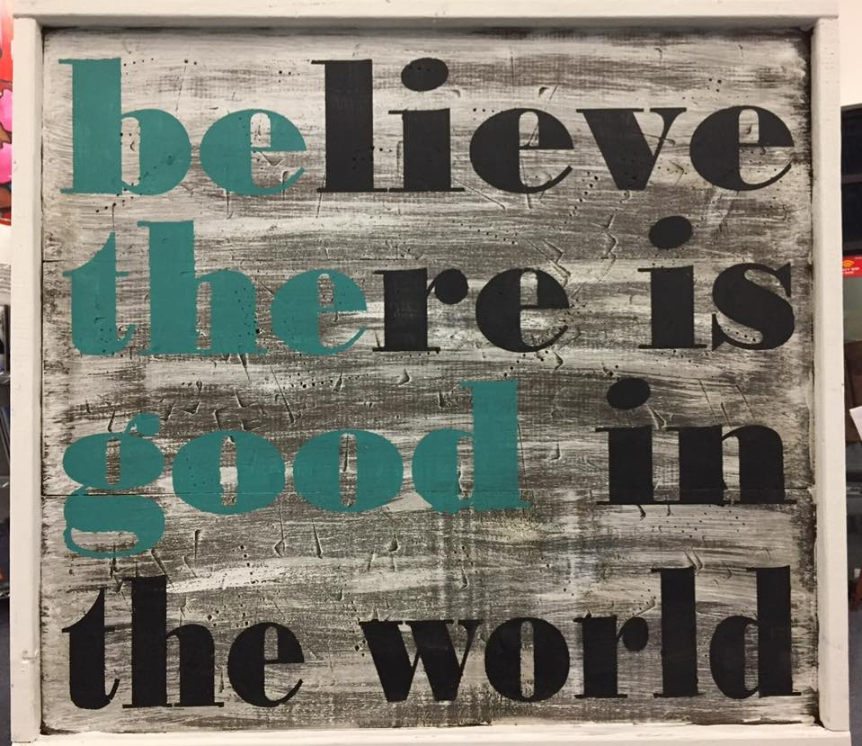 "Be The Good 25""x25"" Framed"