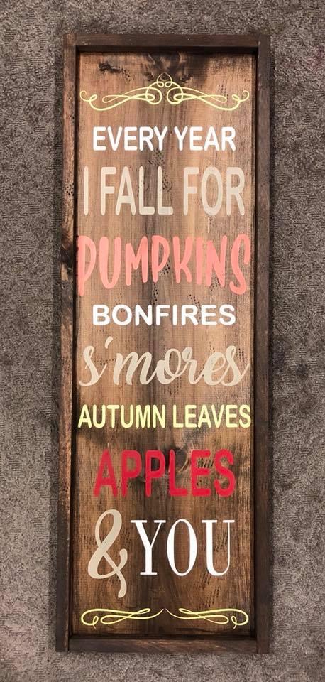 """Falling For Autumn Framed 14""""x38"""""""
