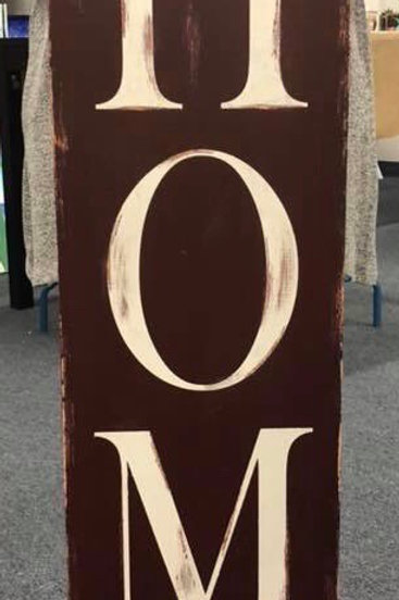 Home Wooden Sign 12 x 48