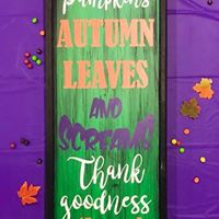 "Leaves & Screams 14""x50"" Framed"