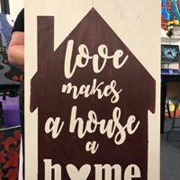 "Home Love 16""x24"""