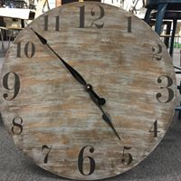 "Vintage Clock 24"""