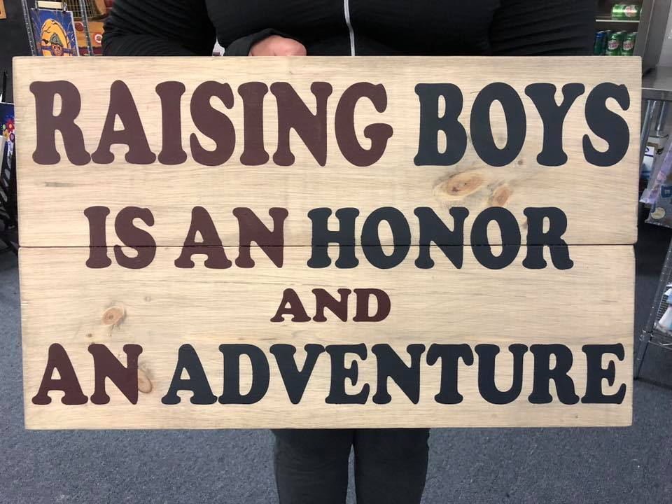 """Raising Boys 16""""x24"""""""