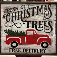 "Christmas Tree Delivery 26""x26"" Fram"