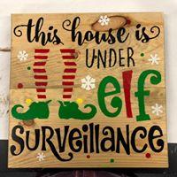 """Elf Surveillance 16""""x16"""""""