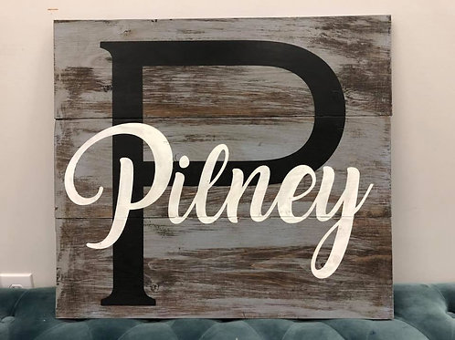 Monogram Wooden Sign 24x24