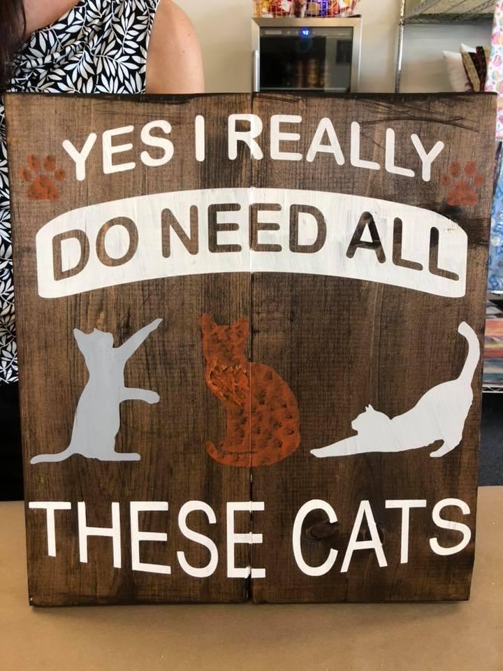 """I Need Cats 12""""x12"""""""