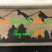 Mountains & Trees w/ Custom Quote