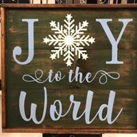 "Joy To The World 26""x26"" Framed"