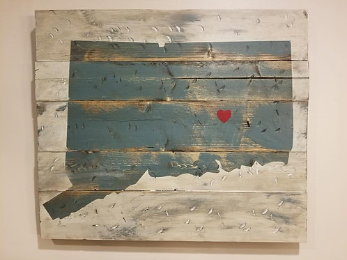 State Wooden Sign 24x24
