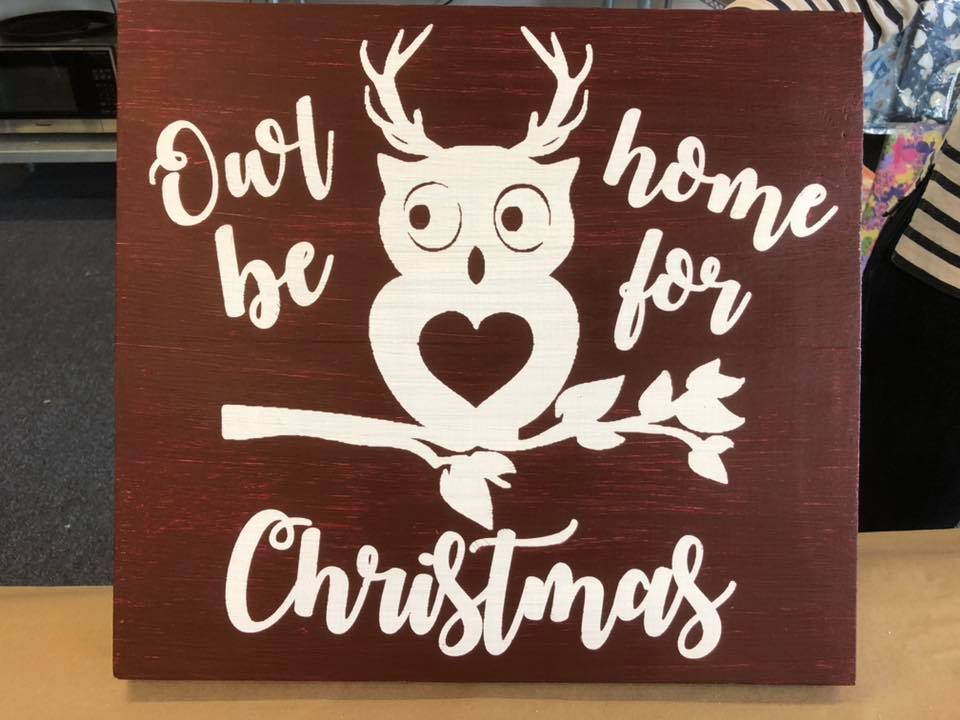 "Owl Be Home 12""x12"""