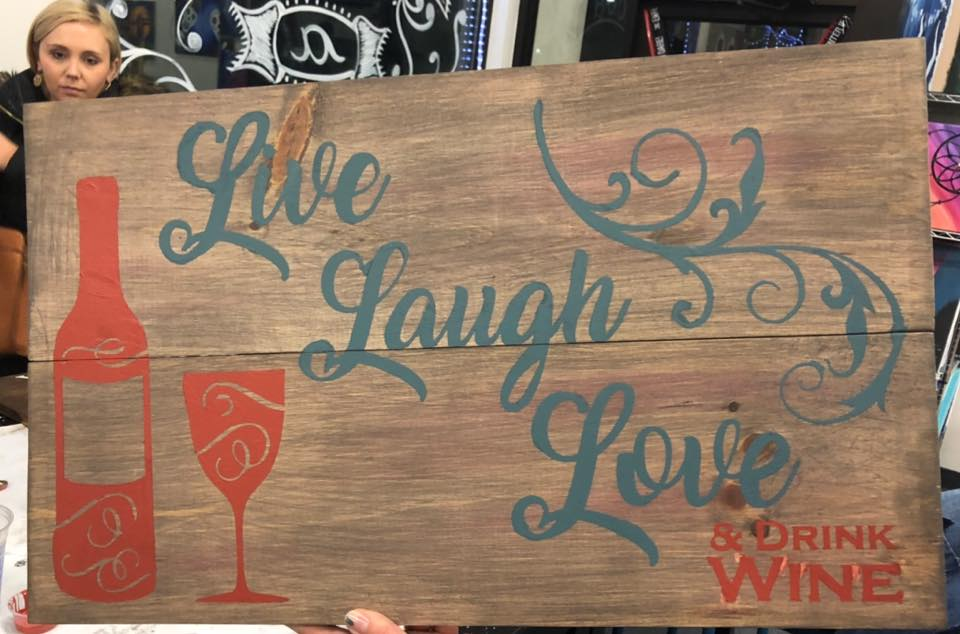 "Live Laugh Love Wine 16""x24"""