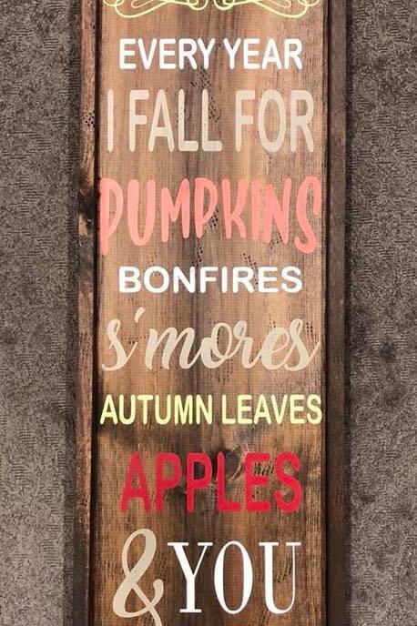 Fall Wooden Sign 14 x 38 Framed