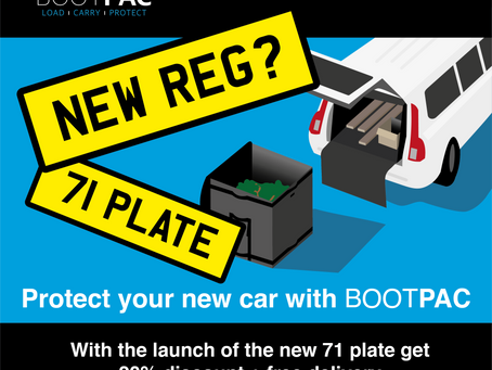 20% Off BOOTPAC for the arrival of the new 71 Plate registration