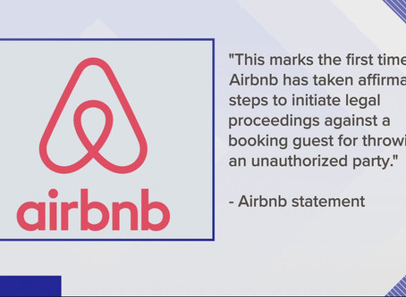 "Airbnb sues guest over 'party house"" booking, shootings"