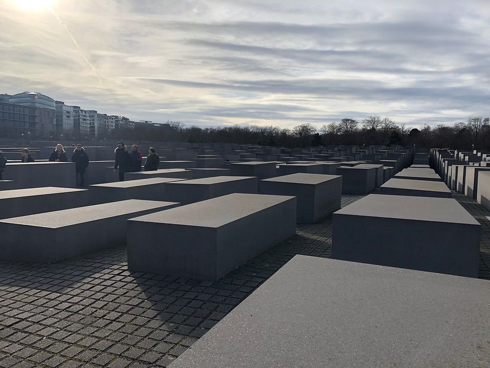 Looking over the Memorial to the Murdered Jews Of Europe