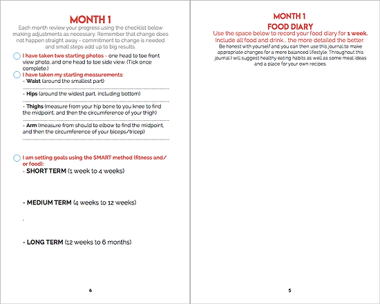 Monthly Review Pages