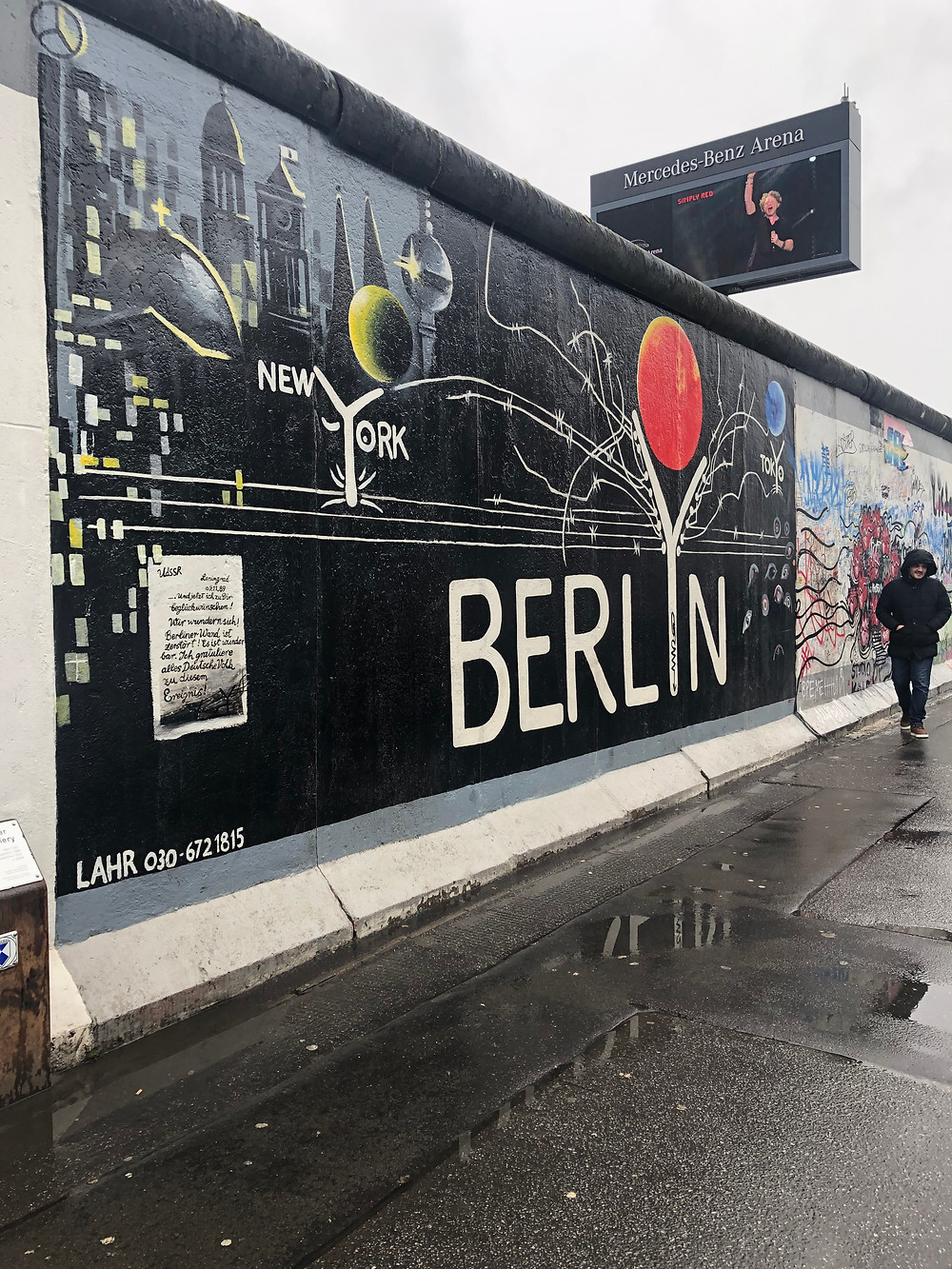Section of the Berlin Wall / East Side Gallery