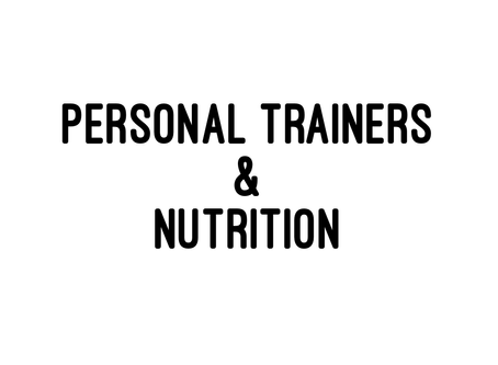 Personal Trainers and Nutrition