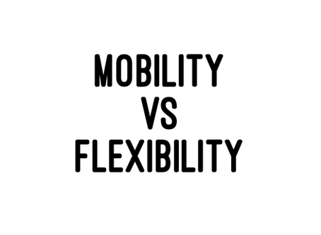 Mobility vs Flexibility