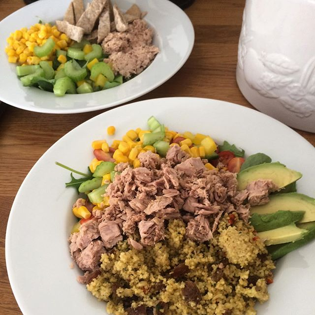 Tuna salads for lunch today with _franrobinson0303 ...jpg