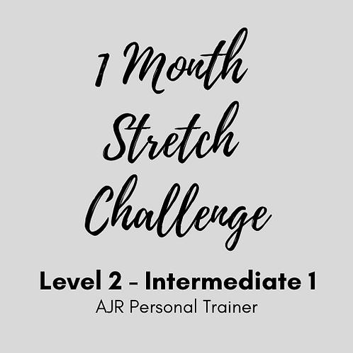 Intermediate Level 2 - 1 Month Stretch Challenge