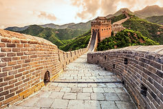 China famous landmark great wall and mou