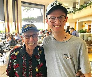 Crew Biggs with Pearl Harbor Survivor - Pearl Harbor Memorial Parade