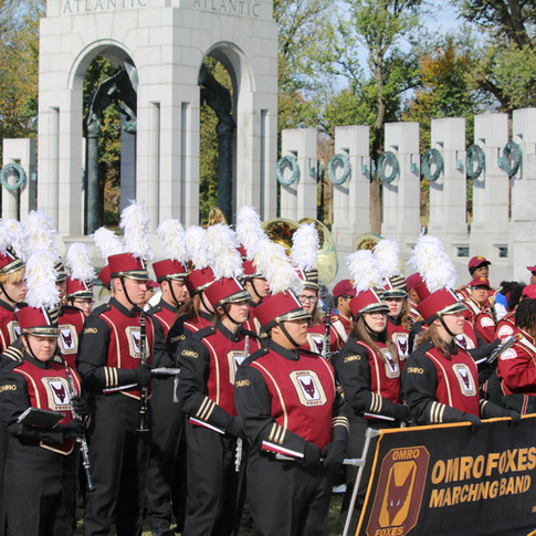 Band at WWII Memorial in Washington DC for WWII 75th Commemoration