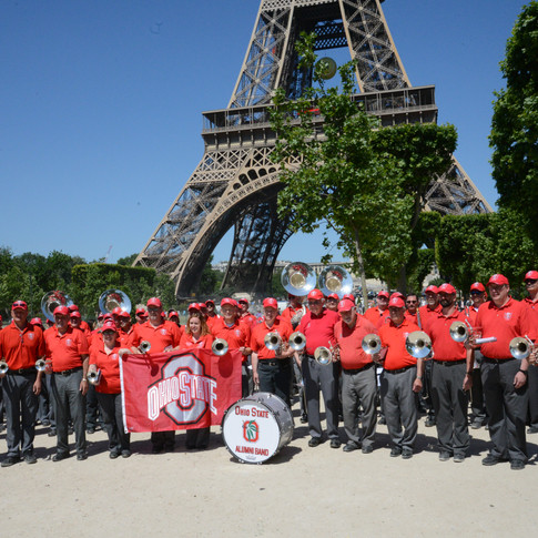 Ohio State Alumni Band in France to commorate the Anniversary of WWII.