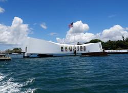 The USS Arizona Memorial at Pearl Harbor