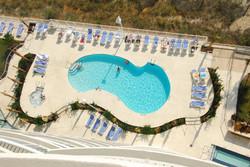 Sandy Beach Resort Pool from Above