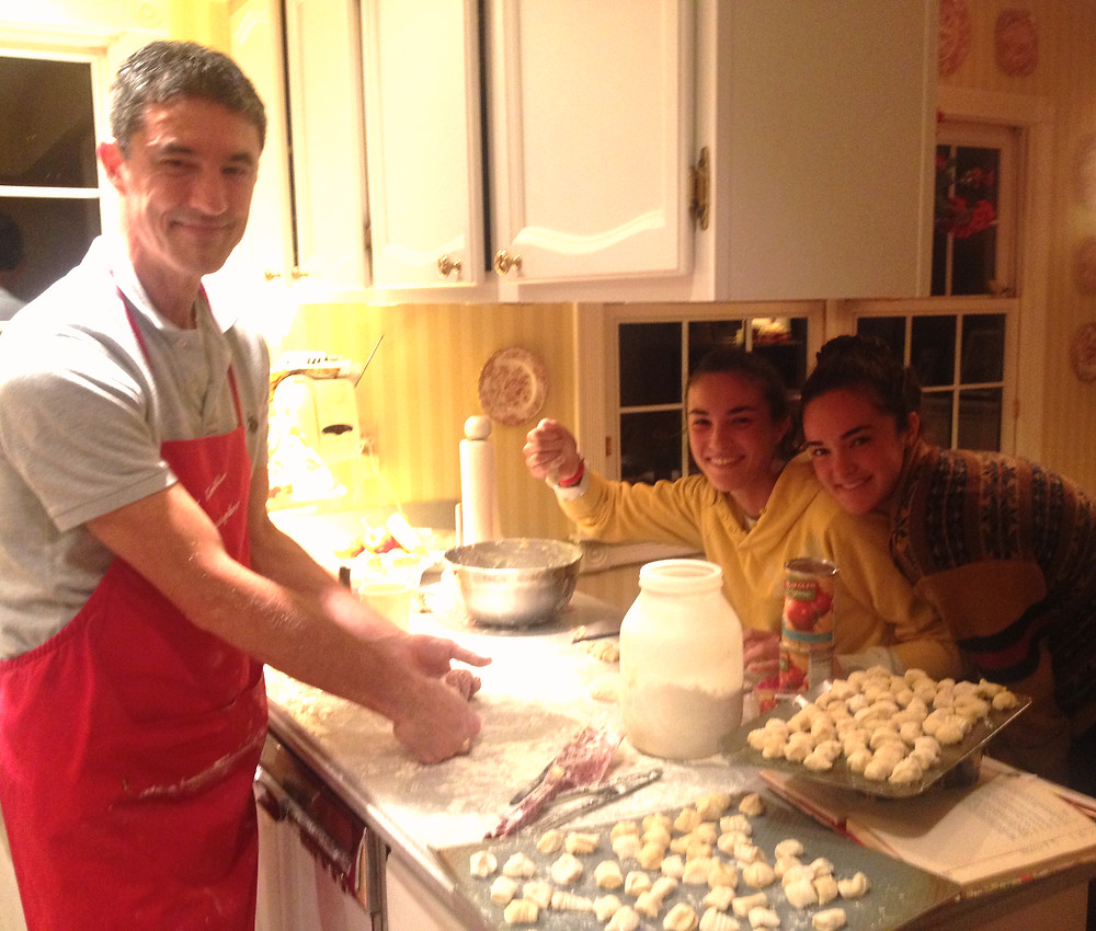 Preparing gnocchi. Photo by Diana Dinverno