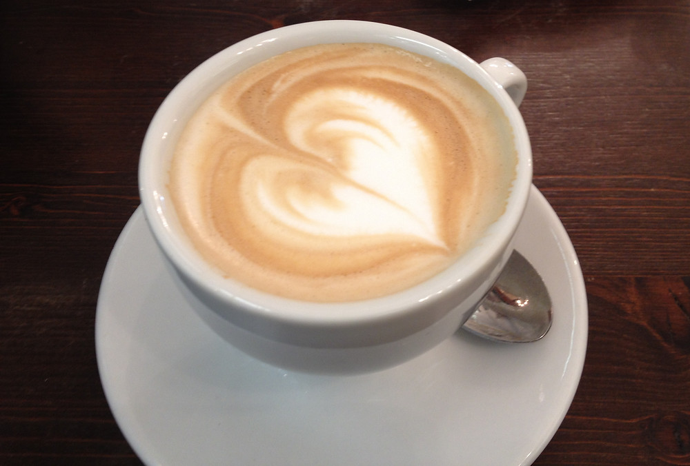 Cappuccino with a heart. Photo by Diana Dinverno.