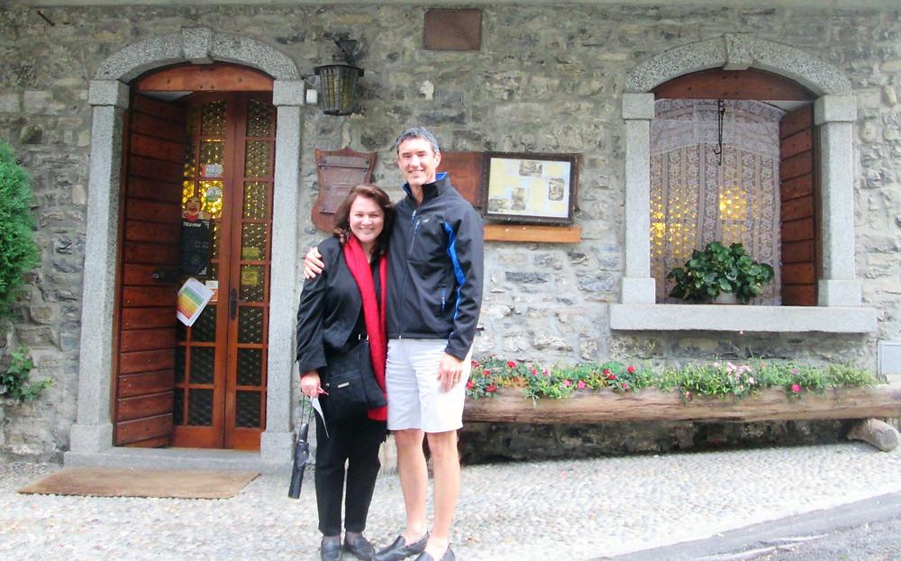 In front of Ristorante il Caminetto.