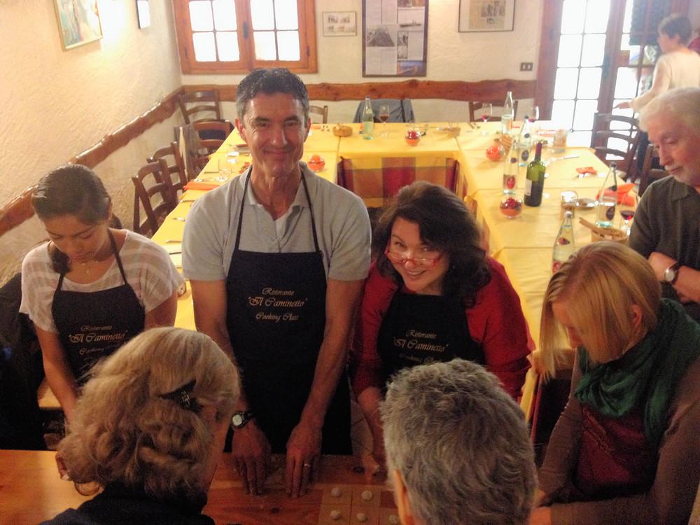 Cooking class at Ristorante il Caminetto.