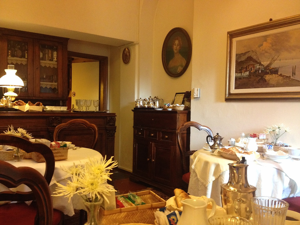 Hotel Morandi alla Crocetta breakfast room.  Photo by Diana Dinverno